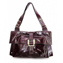 Bolsa Della Barbie Patent Leather Satchel Femenino