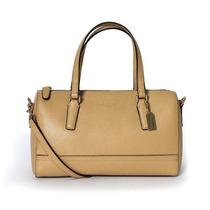 Bolsa Coach Saffiano Mini Satchel Handbag Tan Femenino