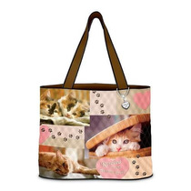 Bolsa My Heart Cat Tote Bag By Exchange Ifs Femenino