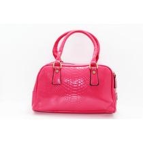Bolsa Rosa Con Cierres Dorados B09