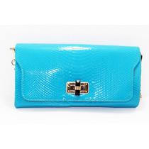 Bolsa Azul Cielo Imitación Piel Cocodrilo B04