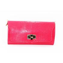 Bolsa Rosa Con Imitación Piel Cocodrilo B03