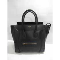 Ultragalm Bolsa Celine Mini Luggage Piel Color Negro