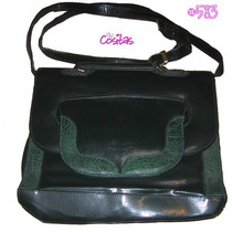 Bolsa Casual Imitación Piel Verde #583