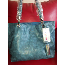 Bolso Para Dama Brentano Azul Cierra Dos Formas Diferentes
