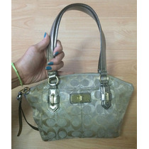 Bolsa Coach Chelsea Monogram Metallic Mediana 100% Original!