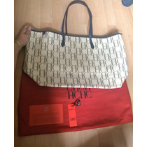 Bolsa Carolina Herrera Ch Big Shopper Tote Xl 100% Original!