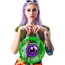 Bolsa Kreepsville 666 Transparente / Verde Ojo Zombie Horror