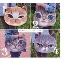 Bolsa Hombro Cara De Gato Gatito Kaiwa Moda Asiatica
