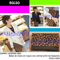 *fashionstore* Sammy Leopard Bag. Bolso De Mano Animal Print
