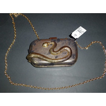 Bolsa Bebe Minaudiere Serpiente Original Nueva Importada