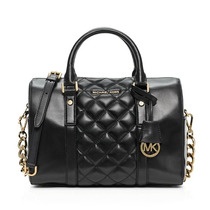 Michael Kors Mk Grayson Chain Quilted Med Satchel Original