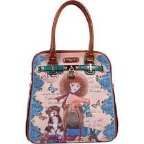 Nicole Lee Nikita Print Satchel Bag