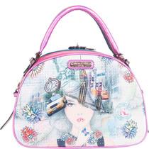 Nicole Lee New York New York Print Bowler Bag
