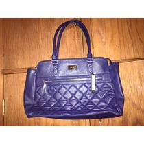 Nine West Linda Y Unica Bolsa En Color Azul Original 100%