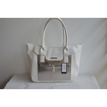Bolsa Nine West Mediana, Blanca/plata Original Y Nueva.