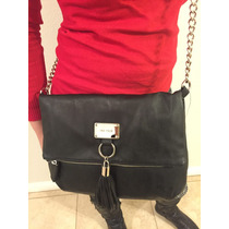 Bolsa De Mano Nine West Negra Zipper 100% Original Nueva