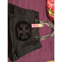 Bolsa Tory Burch Tote Negra Nueva Original