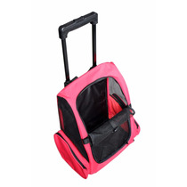 Mochila Para Transportar Mascotas Con Ruedas Perro Gato Rosa