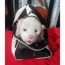 Bolsa Transportadora Para Perros Con Correa Y Doble Zipper