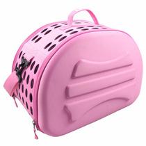 Bolsa Transportadora Mascota Perro Gato Rosa Fashion