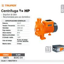 Bomba Electrica Para Agua Centrifuga 3/4 Hp