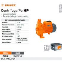 Bomba Electrica Para Agua Centrifuga 1/2 Hp
