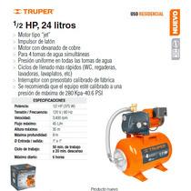 Bomba Hidroneumatica De 1/2 Hp 24 Litros Truper Dizome