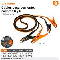 Cables Pasa Corriente 3.5 M Calibre 6 Awg