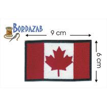 Escudo Parche Bordado Banderas De Canada