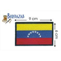 Escudo Parche Bordado Banderas De Venezuela 8 Estrellas