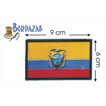 Escudo Parche Bordado Banderas De Ecuador