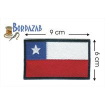 Escudo Parche Bordado Banderas De Chile