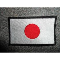 Bandera Japon Bordado Parche Escudo