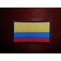 Escudo Parche Bordado Bandera De Colombia
