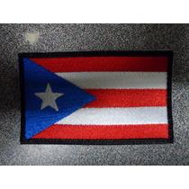 Bandera Puero Rico Bordado Parche Escudo