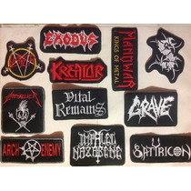 Parches Metaleros Bordados. Rock, Metal