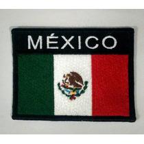 Bandera De México Bordada Con Nombre.