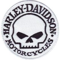 Harley Davidson Bikes Calavera Skull Motos Parches Bordados