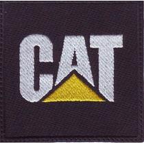 Cat Caterpillar Negro Autos Tractores Parche Bordado