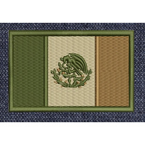 Mexico Banderas Acu Parches Bordados Tacticos Gotcha