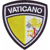 Vaticano Escudo Parches Bordados Banderas Paises Del Mundo