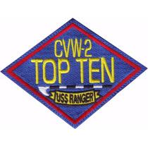 Top Gun Topgun Parches Bordados Cw2 Top Ten Uss Rangers