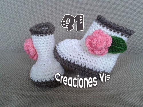 Botas Tipo Ugg Para Bebé Tejidas A Mano Crochet Más Modelos ...