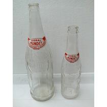 2 Botellas Antiguas De Sidral Mundet (incluye Corcholatas)