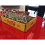 Antiguas Botellítas Refresco Coca Cola Caja Reja Madera