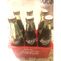 Mini Botellas Coca Cola, Reja Con 6 Botellitas