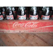 Reja De Madera De Coca Cola Con 24 Botellas Navidad 1995
