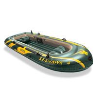 Lancha Inflable Enorme Intex Seahawk 4 Personas Pesca Rio