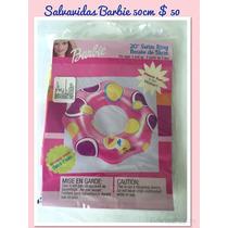 Paquete De 12 Piezassalvavidas Barbie Llantita Inflable 51cm